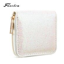 Fecilia New Womens Wallet Fashion Glitter Zipper Purse Ladies Party Clutch Card Holder Coin Key Handbags Short