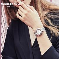 Kenneth Cole Womens часы кварцевые видеть через простой Нержавеющаясталь Водонепроницаемый леди Элитный бренд часы KC15108001