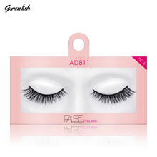 Genailish 1pairs Faux Mink Makeup Fake lashes False eyelashes Beauty Extension Thick Eyelash Eyelashes AD811