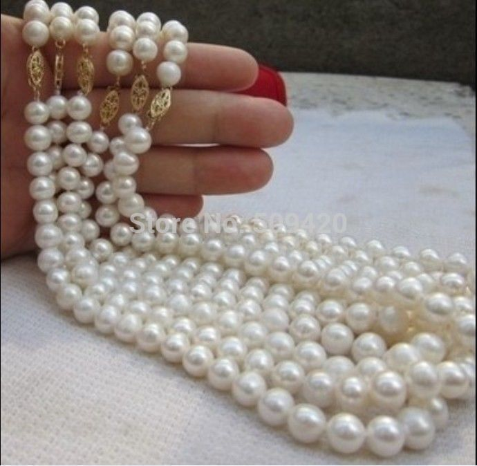 ~~ W&O658>>six piece 8-9mm Australian south white pearl necklace 18inch 6PCS south shore 3 piece bookcase set in pure white