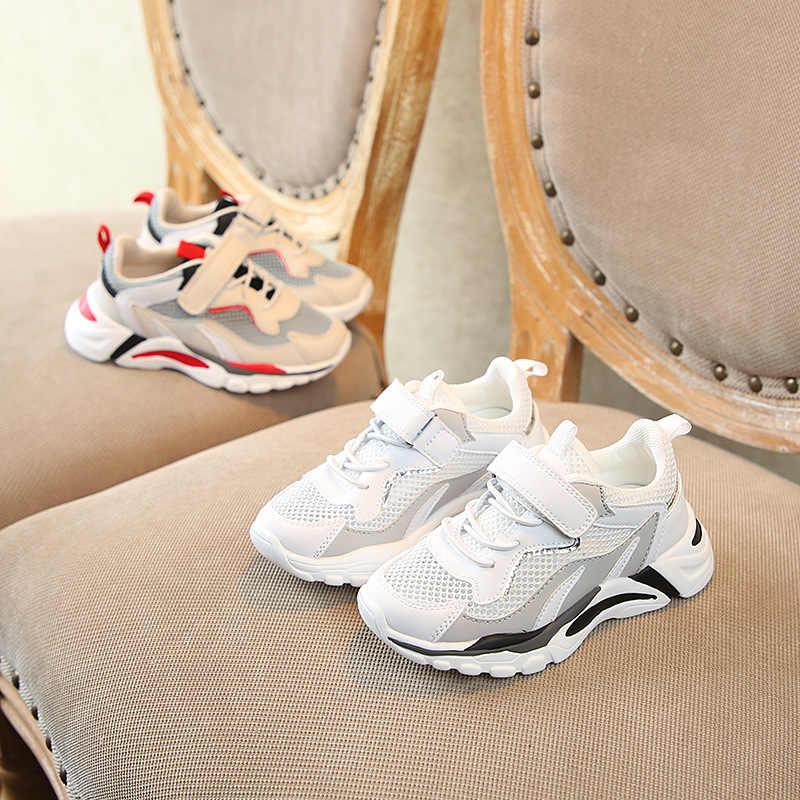 ฤดูใบไม้ร่วง 2019 ใหม่เด็กกีฬารองเท้าผ้าใบเด็กรองเท้าผ้าใบเด็กรองเท้าเด็กชาย Clunky รองเท้าผ้าใบแฟชั่นเทรนเนอร์แบรนด์
