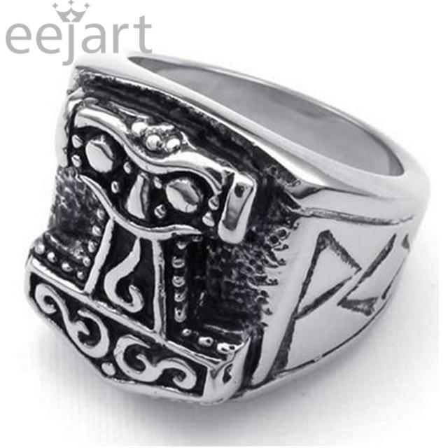 Cool Men S Jewelry Viking Hammer Of Thor Ring