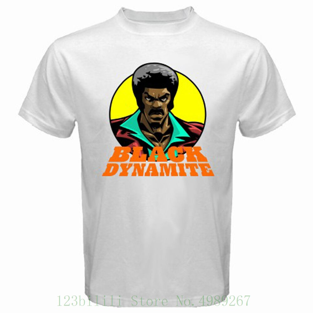 New Black Dynamite Action Comedy Movie Men's White T Shirt Size S - 3xl Funny O Neck T Shirt image