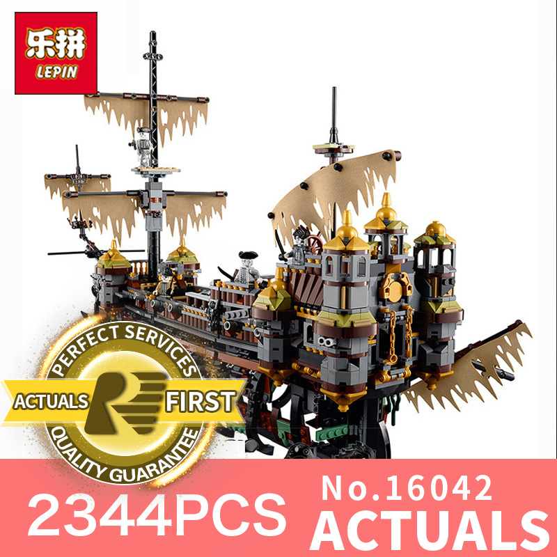 2344Pcs Lepin 16042 New Pirate Ship Series The Slient Mary Set Children Educational Building Blocks Bricks Toys Model Gift 71042 lepin 16042 pirates of the caribbean ship series the slient mary set children building blocks bricks toys model gift 71042