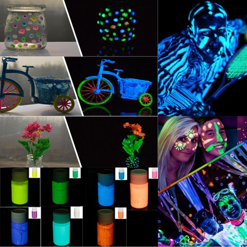 7 Colors 25ml Neon Fluorescent Body Paint Grow In The Dark Face Painting Luminous UV Paints Art For Halloween Party