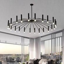 Design arte led lustres sala de estar quarto restaurante led pingente lâmpada foyer luz casa deco pendurado luminária