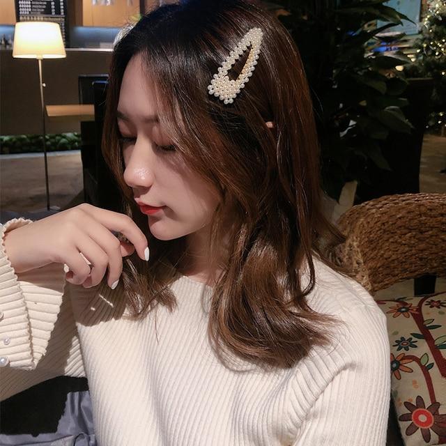 Elegant Pearls Hair Ornament Clips Hairpins Barrettes for Women Girls 4