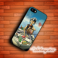 Capa Cartoon Gorillaz Boat Case for iPhone 7 6 6S Plus 5S SE 5 5C 4S 4 Case Cover for iPod Touch 6 5 Case.