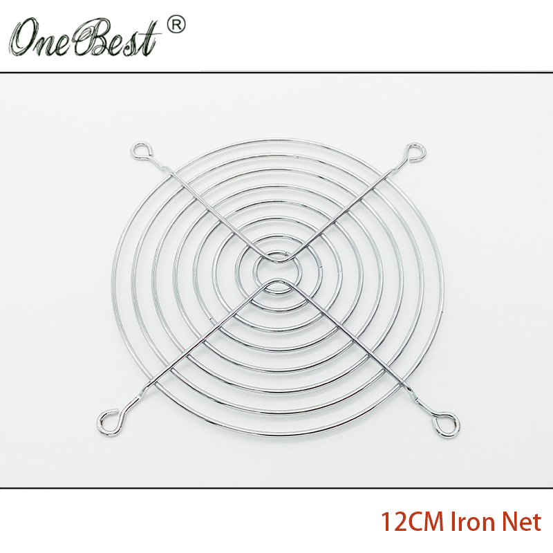 12CM Fan Iron Net CPU Cooling Fan Cover Finger Guard Motherboard Fan Protection Net 120*120MM Computer Fan for 12025/12038 AC/DC original delta afc1212de 12038 12cm 120mm dc 12v 1 6a pwm ball fan thermostat inverter server cooling fan