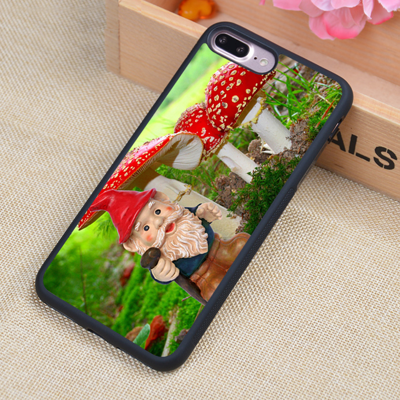 Garden gnome Cartoon Style Soft Rubber Back Case Cover For iPhone 6 6S Plus 7 7 Plus 5 5S 5C SE 4 4S Mobile phone bag