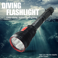 Wholesale Professional Waterproof Led Diving Flashlight 3 Mode XHP70 LED Underwater Torch Dive Flash Light With 26650 Battery