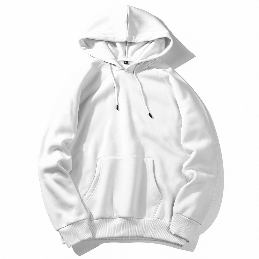 Men's Sportswear Long Sleeve Workout Tops Mens Sports Jackets Gym Sweater Shirts Sport Hoodies For Autumn Training Europe Size - Цвет: white