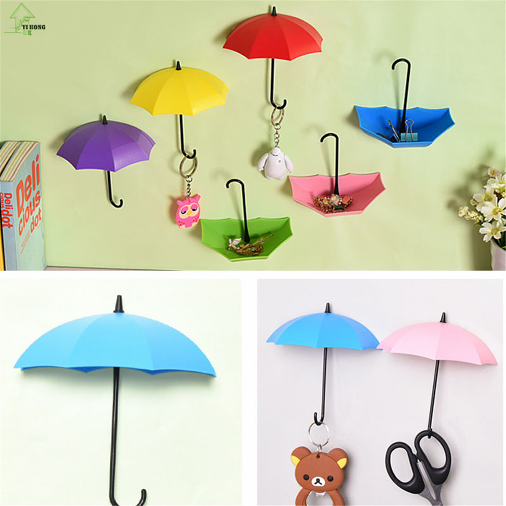 YIHONG Umbrella Shaped Key Rack Key Hanger Wall Hook Key Holder for ...