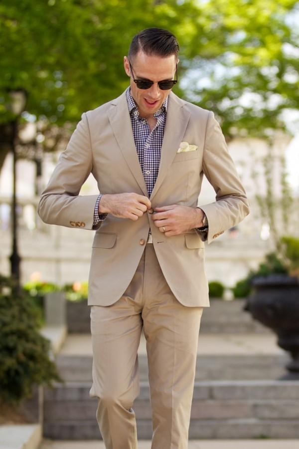 2017 Latest Coat Pant Designs Champagne Casual Suits For Men Custom Summer Beach Slim Fit Groom 2 Pieces Tuxedo Jacket+Pants 193
