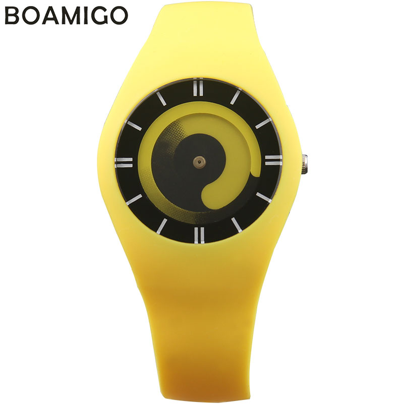 BOAMIGO creative women sport quartz watches fashion dress ladies rubber band watches women s red blue