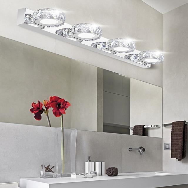 Moderne K9 Crystal LED Badkamer Make up Spiegel Licht Koel Wit ...