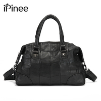 iPinee Famous Brand Women Genuine Leather Crossbody Bag Patchwork Sheepskin Women's Handbags Wholesale