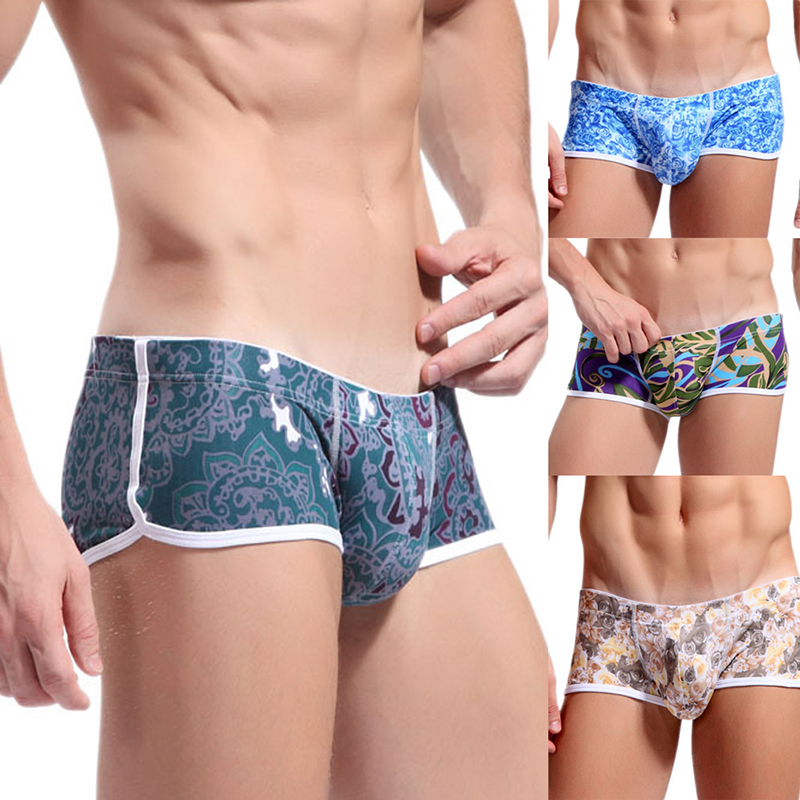 Hot Sell Mens Sport underwear comfortable cotton network Exercise Training underwear variety of decorative pattern 4005PJ SS