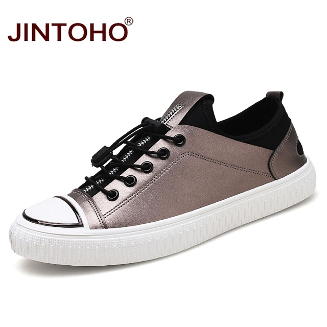 JINTOHO 2018 Fashion New Men Casual Shoes Slip On Leather Loafers Brand  Cheap China Shoes Designer Male Shoes Men Flats Sneakers e84a20c471e5