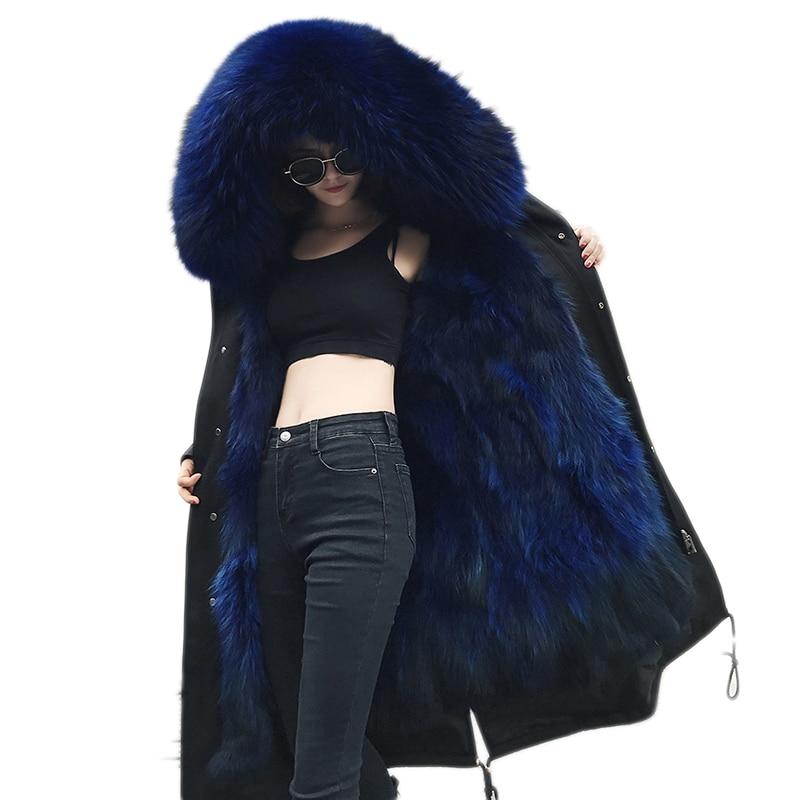 Real Fur Collar Parka Womens Winter Jacket 2019 Winter Jacket Women Thick Snow Wear Winter Coat Lady Clothing Female Jacket