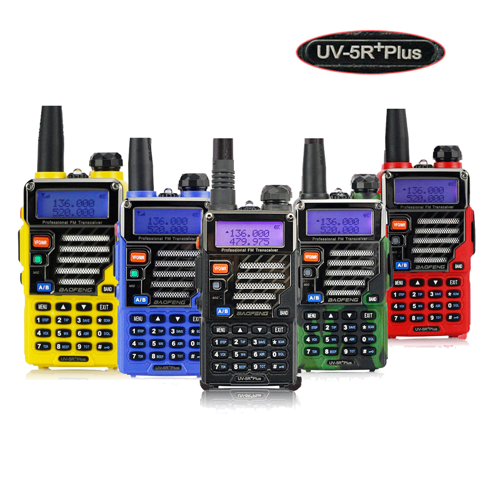 Baofeng UV-5R Plus Dual Band Two Way Radio Ham Walkie Talkie Pofung 5W 128CH UHF VHF FM VOX Dual Display