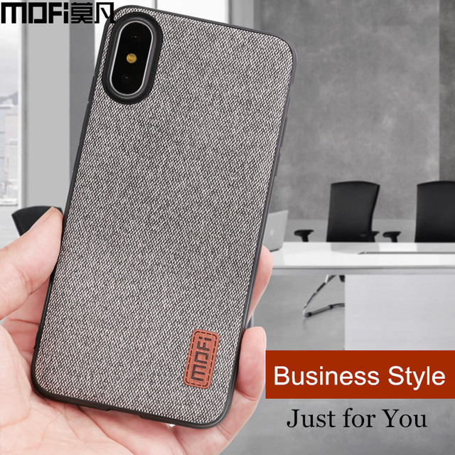 MOFi iPhone X Fabric Business Style Shockproof Back Case Cover