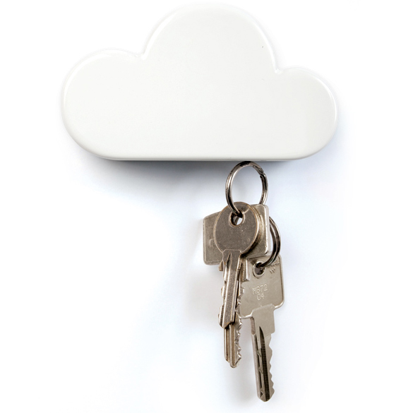 New Arrival Cloud Shaped Key Case Box Classic Creative Novelty White Cloud Shape Magnetic Magnets Key Holder Home BS