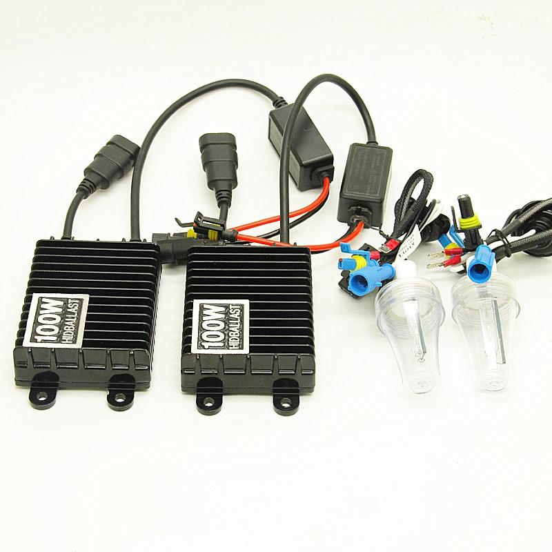 12 V 100 W Xenon H7 HID Kit de Conversion H1 H3 H11 9005 9006 ampoule Auto voiture phare lampe 4300 k 6000 K 6000 k 8000 K