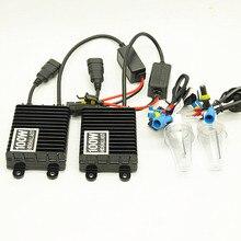 12 V 100 Вт Ксеон H7 HID переделочный комплект H1 H3 H11 9005 9006 Лампа для автомобиля фар лампа 4300 k 6000 K 6000 k 8000 K