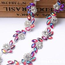 2Yards Crystal Rhinestone Trimming Resin Trim For Wedding Bridal Applique Chain 20mm