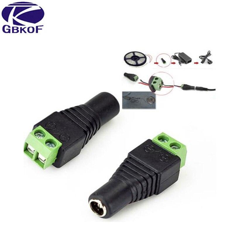Good 1Pcs 2.1 X 5.5mm DC Power Female Plug Jack Adapter Connector Plug For 5050 3528 Single Color LED Strip Light