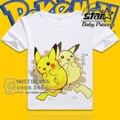 2016 Fashion Baby Girls Cotton T shirt Girls Summer Pikachu Print Tops Short Sleeve T-shirt Clothes