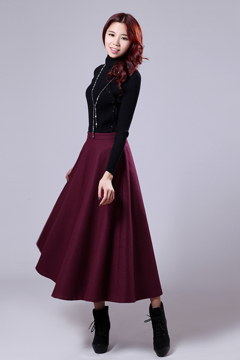 Aliexpress.com : Buy 2015 New Arrival A Line Winter Long Skirts ...
