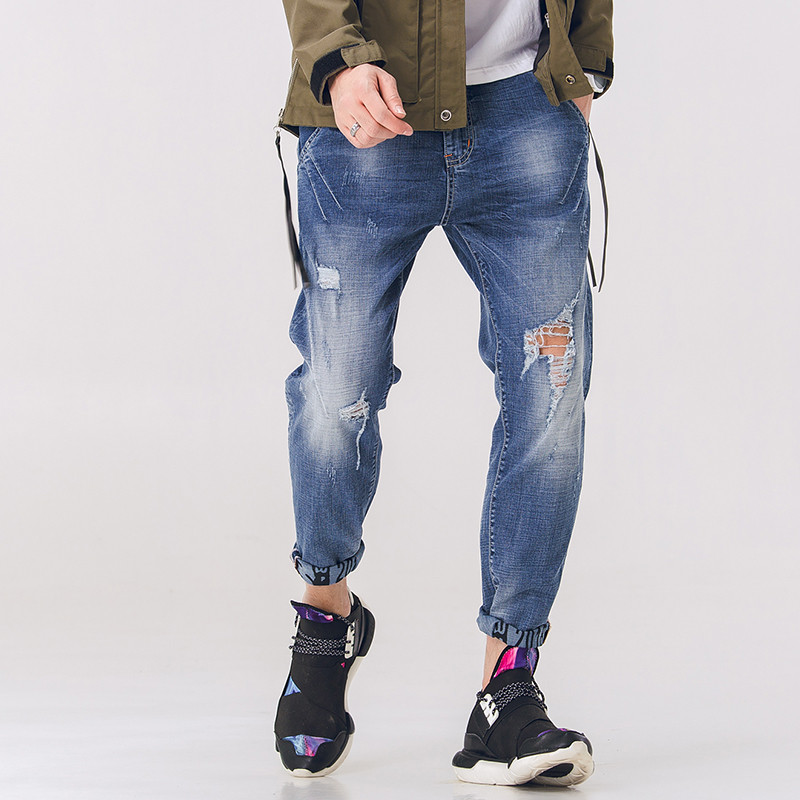 Fashion Mens New Jeans Casual Jeans Stretch Sculpting For Fit Perfect Details Large Size Straight Loose Harlan Pants