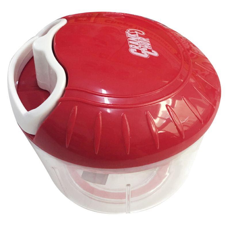 NOCM-Multi-function hand-drawn rope shredder meat grinder shredder vegetable cooking machine - red