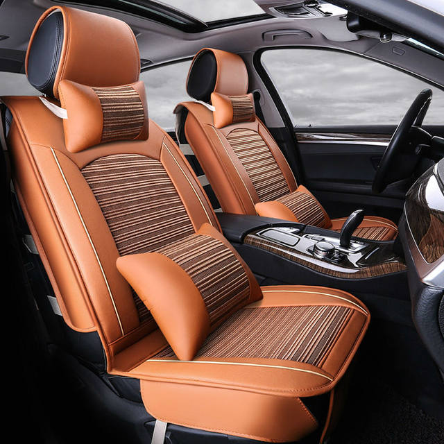 Automotive Summer Cushion Set Cooling Car Seat Covers For ROVER 75 MG TF 3 6 7 5 Maserati Coupe Spyder Quattroporte Maybach