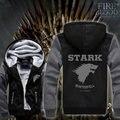 Dropshipping EE. UU. Juego de Tronos Casa Stark de Winterfall Unisex Espesar Suéter Con Capucha Capa de la chaqueta Por Encargo