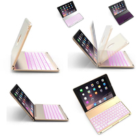 For ipad 5 ipadAir1 7 Colors Backlit Light Wireless Bluetooth Keyboard Case Cover For iPad 9.7 New 2017 A1822 A1823 newipad 2018