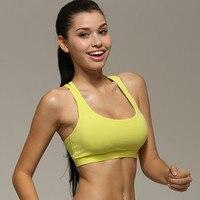 Women Gym Sport Bra Backless Cross Fitness Running Shockproof Tank Tops Sleeveless Crop TopsSeamless Dry Quick