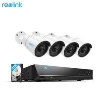 Reolink 4MP Система Видеонаблюдения 8ch PoE NVR & 4 POE IP Камеры Пуля Уличный Комплект Видеокамеры HD 2 ТБ HDD RLK8 410B4