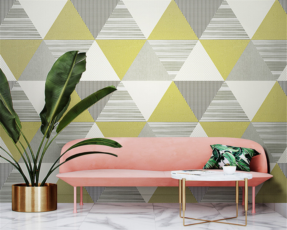 beibehang Trendy minimalistic geometric pattern Nordic bedroom living room dining room background papel de parede pvc wallpaper in Wallpapers from Home Improvement