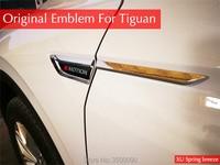 Car Chrome Sticker Side Wing Fender Emblem Badge With 4 Motion Sticker Trim Original Car Styling