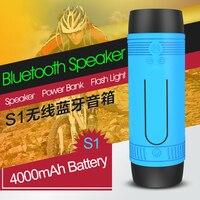 ZEALOT S1 Cycling Stereo Wireless Bluetooth Speaker Built In LED Flashlight FM Radio 4000mAh Battery Micro