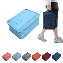 1pcs Travel Storage Bag Nylon 6 Colors Portable Organizer Bags Shoe Sorting Pouch Color