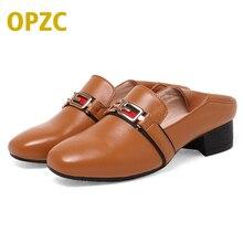 OPZC 2018 New Fashion Spring Women Flats hasp Shoes Ladies Round Toe Comfortable Slip-On Flats Women