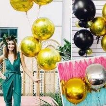 ΝΕΟ 4D ροζ χρυσό φύλλο χρυσού Ballon γενέθλια μπαλόνια ηλίου μπαλόνια συμβαλλόμενων μερών προμήθειες παρτίδων παιδιά ενηλίκων babyshower φύλο αποκαλύψει
