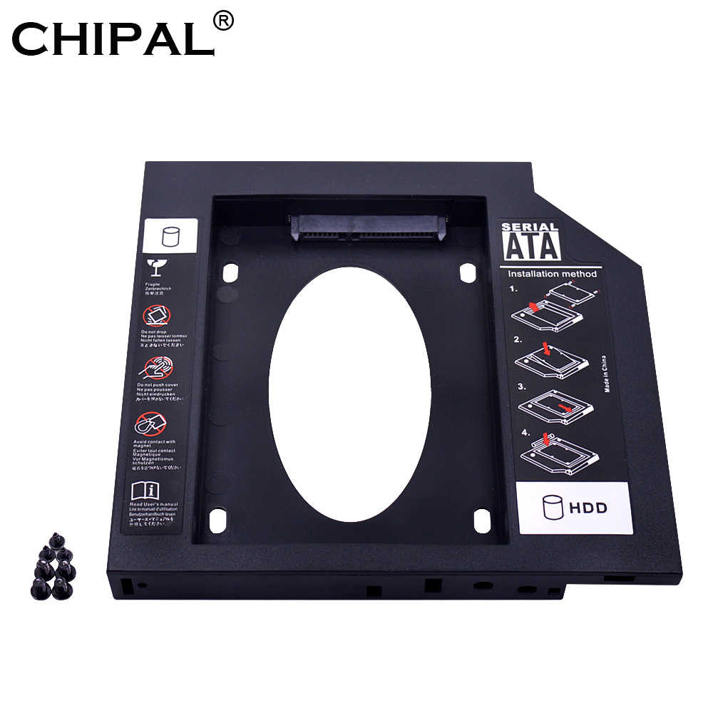 CHIPAL uniwersalny drugi drugi HDD Caddy 9.5mm 9mm SATA 3.0 dla 2.5 ''SSD obudowa dysku twardego adapter do laptopa ODD CD DVD ROM