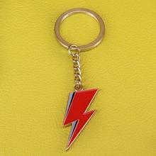 Lightning keychain David Bowie inspired stardust keyring art jewelry music gift men accessories