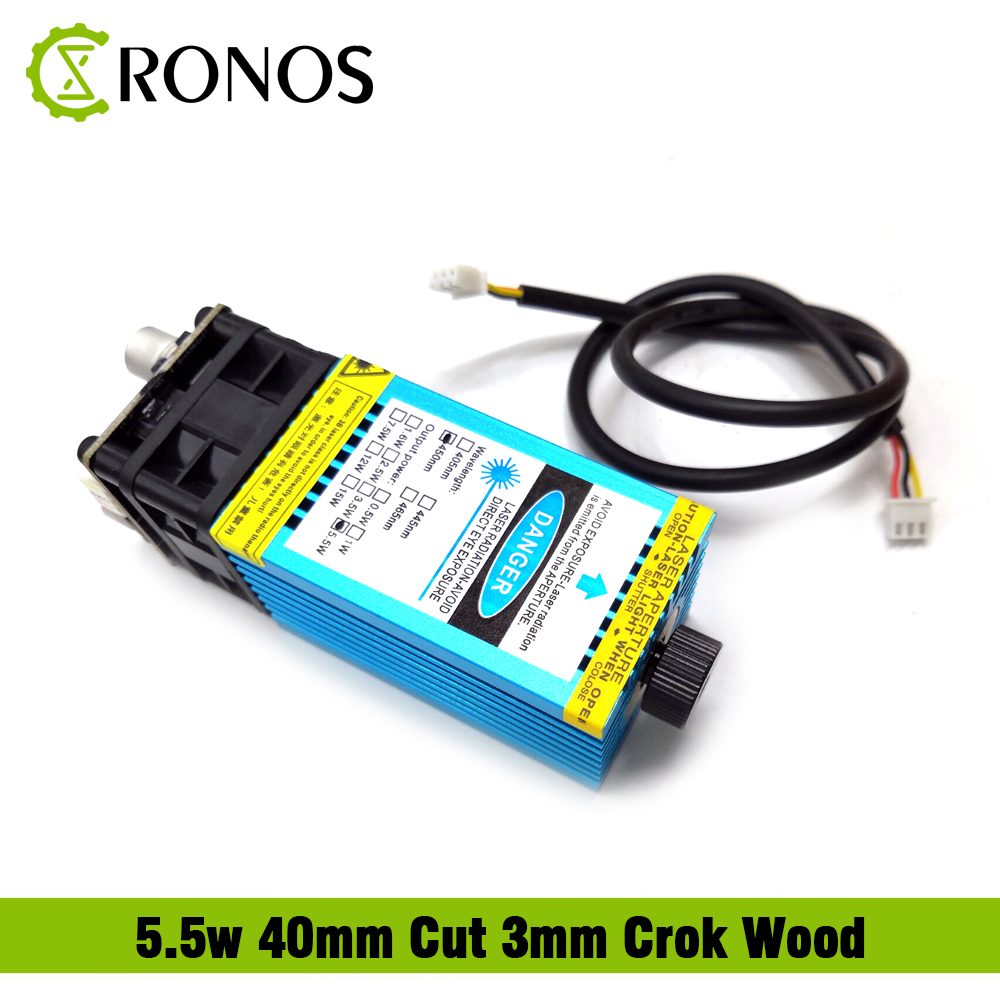 5.5w 450nm Focusing Blue Laser Module Laser Engraving And Cutting TTL Module 5500mw Laser Can Engrave On Stainless Steel