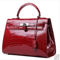 Luodungongniu Crocodile Belly Lady Handbag Luxury Big Capacity Women Bag Can Shoulder Diagonal Hand Carry Leather